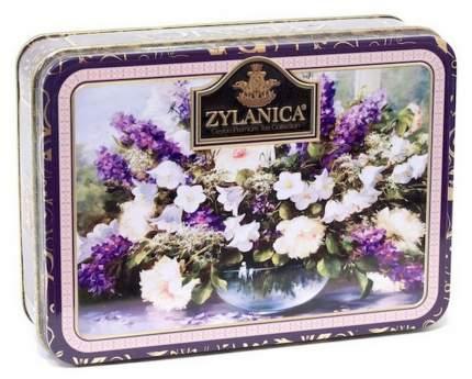 Чай Zylanica Purple шкатулка с цветами черный листовой Super Pekoe 100 г