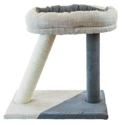 Когтеточка-лежанка Не Один Дома Горка, бело-серая, 31х45х45 см