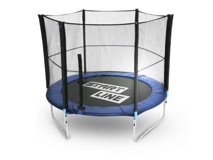 Батут Start Line Fitness 08348S2Y с сеткой 244 см, черный/синий
