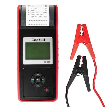 Тестер аккумуляторных батарей (АКБ) 12/24V Car-tool IC-500