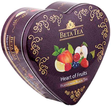 Чай Beta Tea фруктовое сердце в музыкальной шкатулке черный ассорти 40 пакетиков