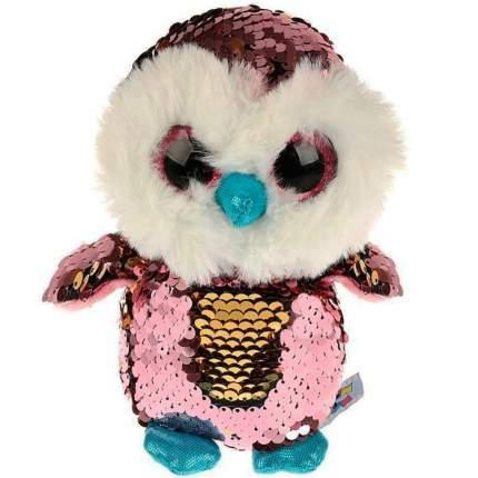 Мягкая игрушка Мульти-пульти Сова с блестящими пайетками, 15 см