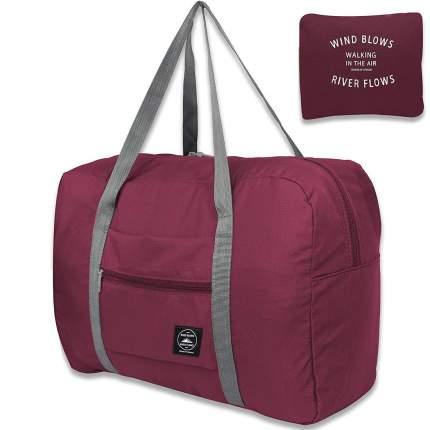 Дорожная сумка Travelkin Wind Blows бордо 34 x 45 x 20 см