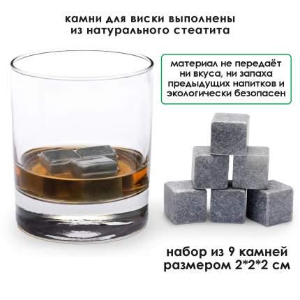 Набор камней для виски в подарочной коробочке Adam Franklin AF-ST-GUN