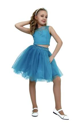 Платье детское Ladetto, цв. зеленый, р-р 140