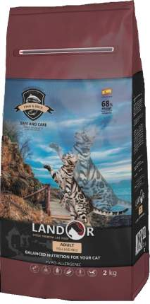 Сухой корм для кошек Landor Adult, рыба с рисом, 2кг