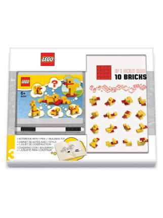 Книга для записей с  ручкой и минифигурой LEGO Classic - Duck Build