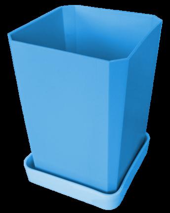 Набор горшков для рассады, 750 мл, 6 штук, цвет голубой