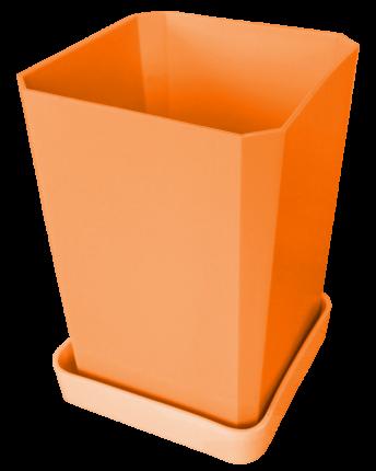Набор горшков для рассады, 750 мл, 6 штук, цвет оранжевый