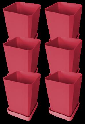 """Набор горшков для рассады, 750 мл, 6 штук, цвет """"французская роза"""""""