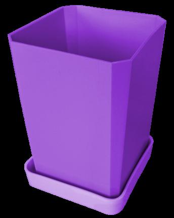 Набор горшков для рассады, 750 мл, 6 штук, цвет фиолетовый