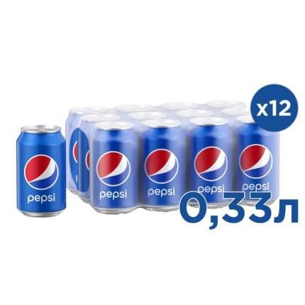 Напиток Pepsi жестяная банка 0.33 л 12 штук в упаковке