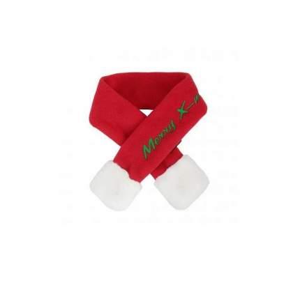 Шарф для собак Puppia новогодний Santa унисекс, любой сезон, красный, M, 48*4,5 см