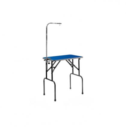 Грумерский стол ZooOne Профи складной, синий, с кронштейном,  tp15430s, 76*47*83 см
