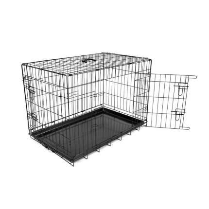 Клетка для собак Duvo+  Pet Kennel двухдверная, в ассортименте, металл, 57x92x64см