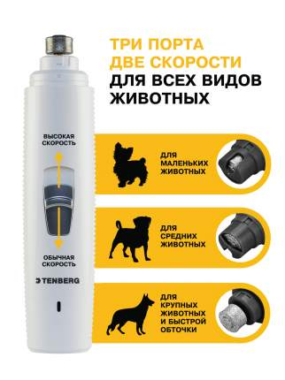 Гриндер для собаки, кошки, птицы, TENBERG Vortex White, металл с напылением, 15.5 см