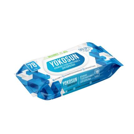 Влажная туалетная бумага YokoSun для взрослых, 78 шт.