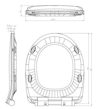 Сиденье для унитаза Cersanit DELFI DS-DELFI-S-DL, дюропраст, с микролифтом