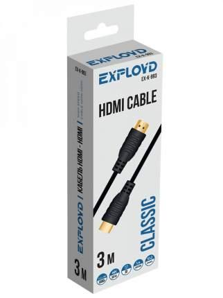 Кабель Exployd Classic HDMI-HDMI 3m Black