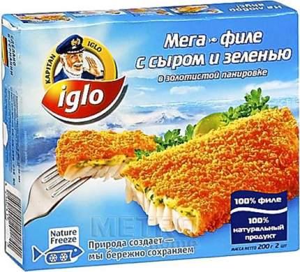 Филе Iglo с сыром и зеленью в панировке