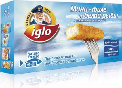 Мини-филе Iglo из белой рыбы в золотистой панировке