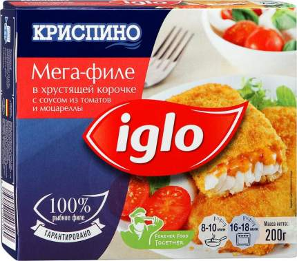 Филе Iglo с томатами и моцареллой в панировке