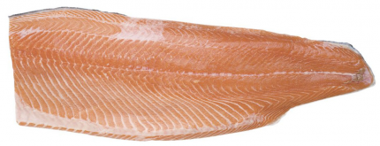 Филе лосося на коже охлажденное