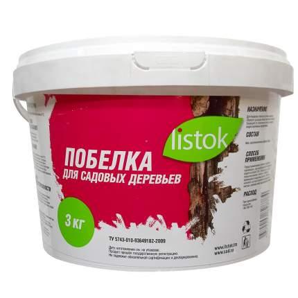 Побелка для деревьев Listok НК386334 3 кг