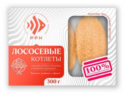Рыбные котлеты РРК лососевые замороженные 300 г