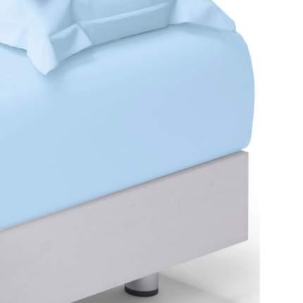 Простыня 2 спальная голубой _Для SNOFF_