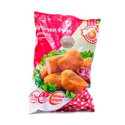 Филе цыпленка Золотой Петушок в панировке кусочки
