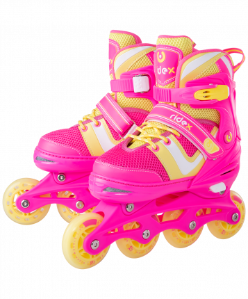 Ролики раздвижные Ridex Wing Pink, р. L (38-41)