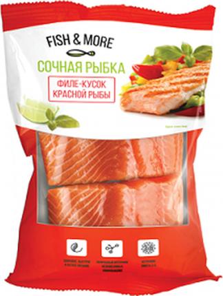 Семга филе Fish&More без кожи порционное свежемороженая