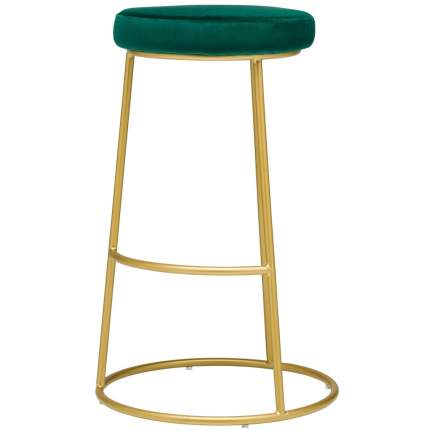 Барный стул Austin зеленый велюр StoreForHome / BY-30-GREEN-GOLD