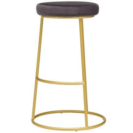 Барный стул Austin серый велюр StoreForHome / BY-30-GREY-GOLD