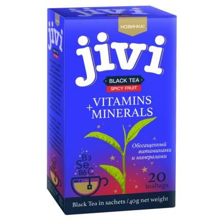 """Чай Jivi """"Black tea Spicy Fruit"""", черный с добавками, 20 пакетиков"""