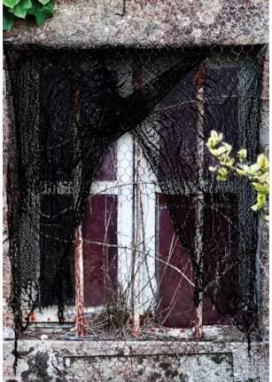 Гирлянда-ткань АРТЭ Истлевшая для оформления Хэллоуина, черный