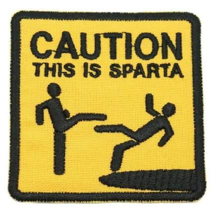 "Патч ""Caution. This is Sparta"", ПВХ, 5 x 5 см"
