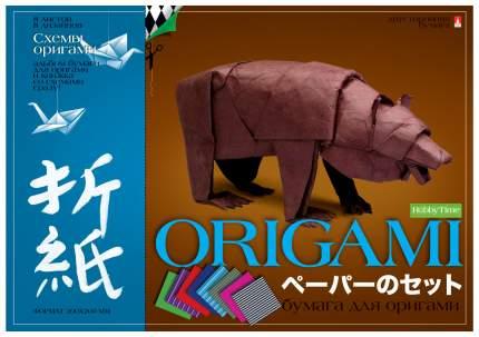Набор декоративной бумаги для оригами со схемами, А4, 8 листов