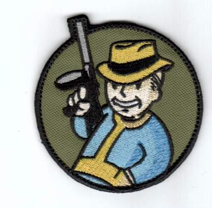 """Патч """"Vault Boy автоматчик"""", диаметр 7.7 см"""