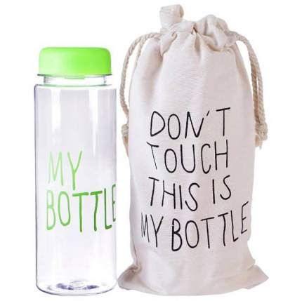 Бутылка для напитков Baziator My bottle (май ботл) с мешочком 500 мл зеленая