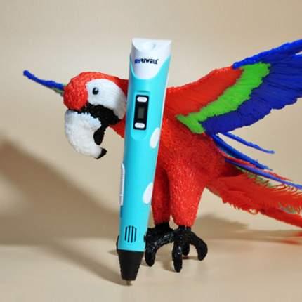 3D ручка Myriwell RP100B с трафаретами и 100 м PLA пластика цвет голубой