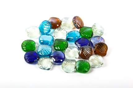 Blumentag стеклянные камни, 6*340 г, №03 ракушка 25*28 мм