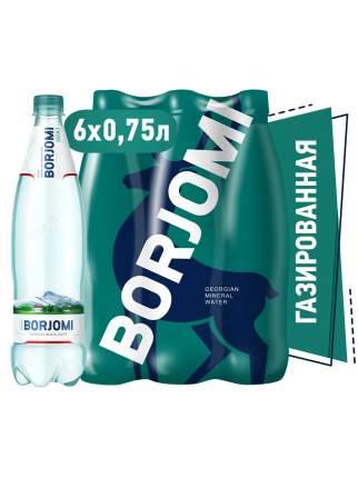 Минеральная вода Borjomi газированная Пэт (0,75л*6шт)