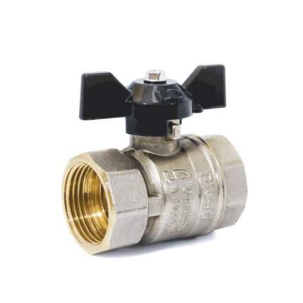 Кран шаровой латунь никель Pride Ду20 Ру40 ВР полнопроходной аналог 11б27п1 LD 47.20.В-В.Б