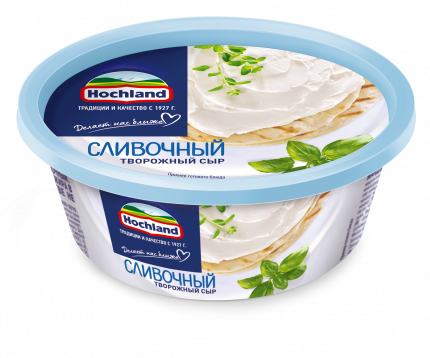 Сыр творожный Сливочный Hochland 60% 140г