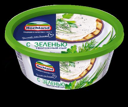 Сыр творожный с Зеленью Hochland 60% 140г