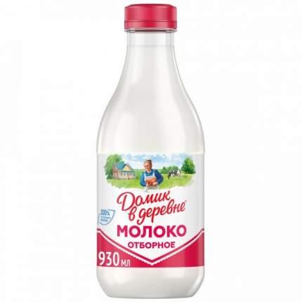 Молоко домик в деревне деревенское отборное пастер цельное 3.5-4.5% питьевое 930 мл