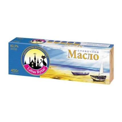 Масло лабас ритас в/с сливочное бзмж жир. 82.5 % 450 г фольга порховский м/с россия