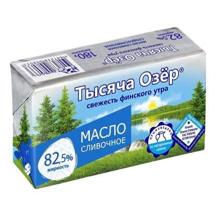 Масло сливочное Тысяча Озёр 82,5 %, 180 г